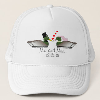 Bride and Groom Duck Decoys Trucker Hat