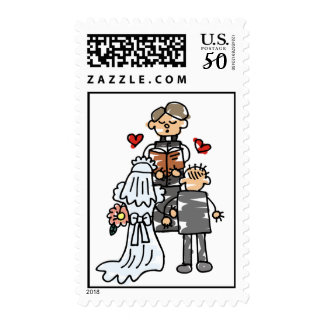 Bride and Groom During Ceremony Postage