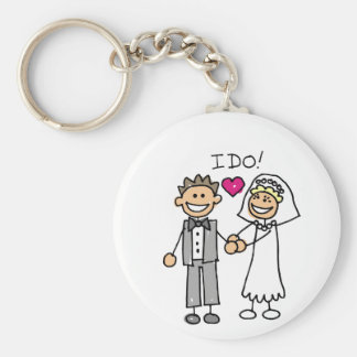 Bride and Groom Exchange vows Keychain