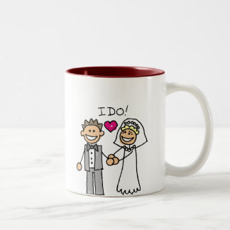 Bride and Groom Exchange vows Two-Tone Coffee Mug