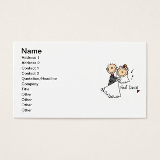 Bride and Groom First Dance T-shirts and gifts Business Card