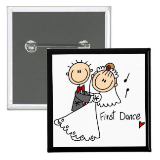 Bride and Groom First Dance T-shirts and gifts Pins