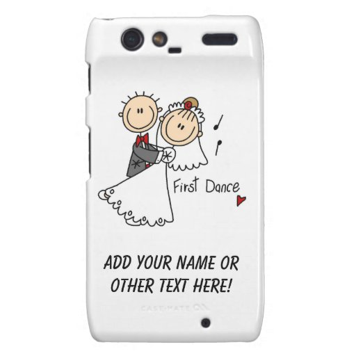 Bride and Groom First Dance T-shirts and gifts Droid RAZR Cases