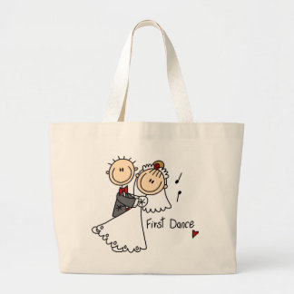 Bride and Groom First Dance T-shirts and gifts Large Tote Bag