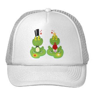 Bride and Groom Frogs Trucker Hat