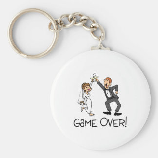 Bride and Groom Game Over Basic Round Button Keychain