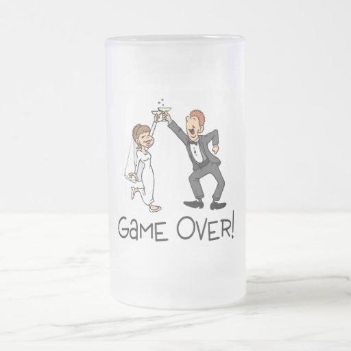Bride and Groom Game Over Coffee Mugs