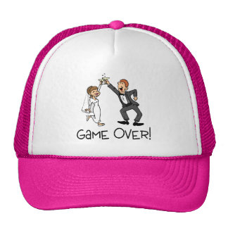 Bride and Groom Game Over Trucker Hat