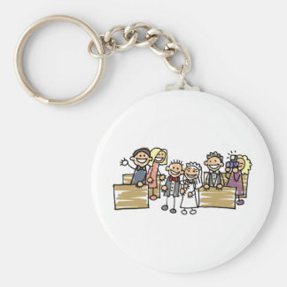 Bride And Groom Get Married Keychain