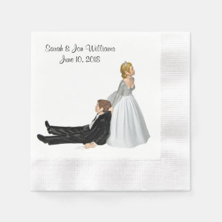 Bride and Groom Humor Paper Napkin