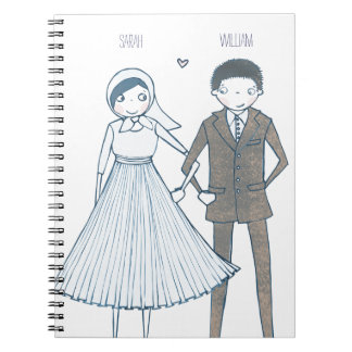 Bride and Groom Illustration | Notebook