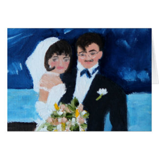 Bride and Groom in France Note Card