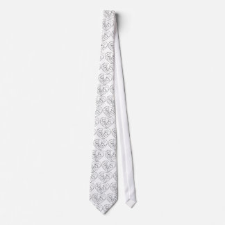 Bride And Groom Inside Heart Neck Tie