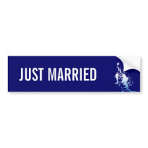 Bride and Groom Just Married Bumper Sticker