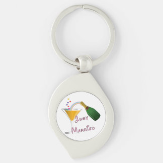 Bride and Groom Just Married Keychain