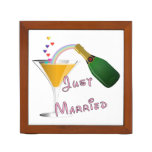 Bride and Groom Just Married Pencil Holder