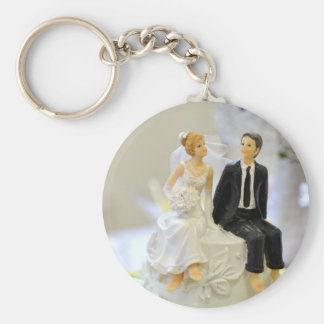 Bride and groom keychain