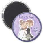 Bride and Groom Kids 2 Inch Round Magnet