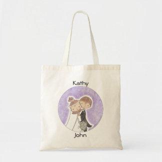 Bride and Groom Kids Budget Tote Bag