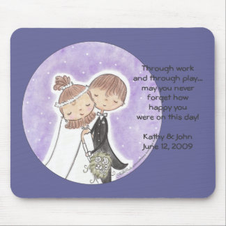 Bride and Groom Kids Mouse Pad