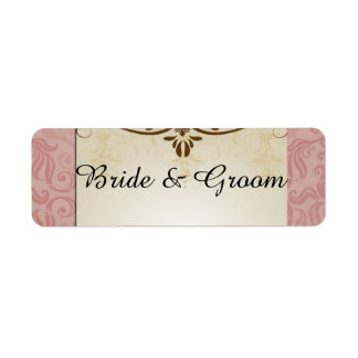 Bride and Groom Labels