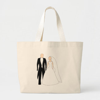 Bride And Groom Large Tote Bag