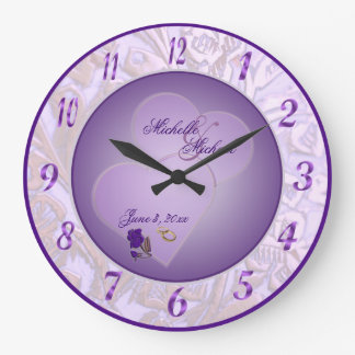 Shades Of Purple Wall Clocks Zazzle