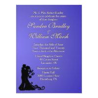 Bride and Groom Lotus 6.5x8.75 Paper Invitation Card