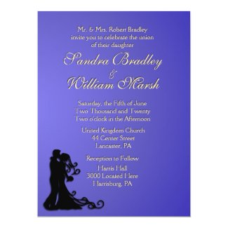 Bride and Groom Lotus 6.5x8.75 Paper Invitation Card