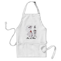 Bride and Groom/Mr. & Mrs. Adult Apron