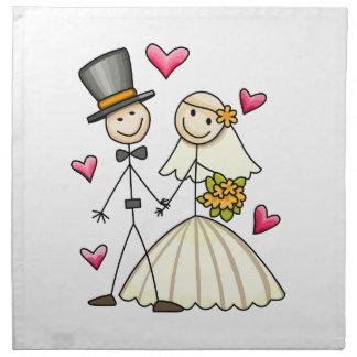 Bride and Groom Cloth Napkins