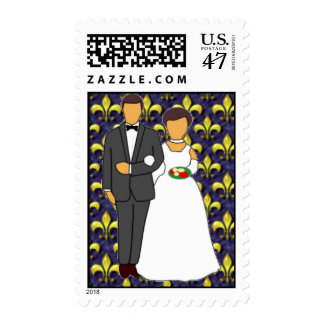 Bride and Groom New Orleans Postage
