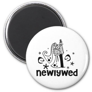 Bride and Groom Newlywed Magnet