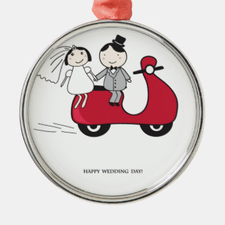 Bride and groom christmas ornaments bride and groom for Engagement christmas tree ornaments
