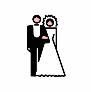 Bride and Groom Ornament Acrylic Cut Outs