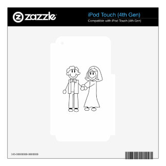 Bride and Groom Outline iPod Touch 4G Decal
