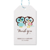 Bride and Groom Owls Gift Tags