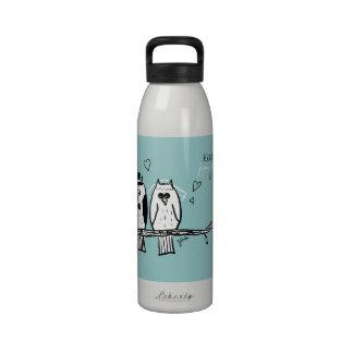 Bride and Groom Owls Wedding Drinking Bottle