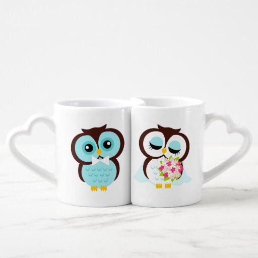 Bride And Groom Owls Wedding Personalized Coffee Mug Set