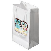 Bride and Groom Owls Wedding Small Gift Bag