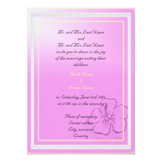 Bride and groom parents'  invitation