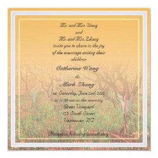 Bride and groom parents'  invitation, Orchard Custom Invite