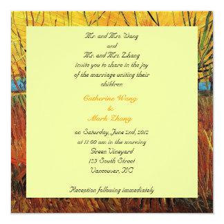 Bride and groom parents'  invitation, wedding personalized invitation