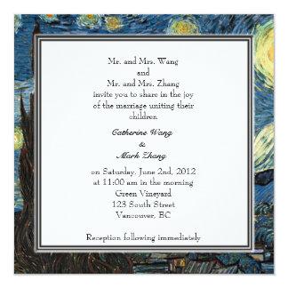 Bride and groom parents'  invitation, wedding 5.25x5.25 square paper invitation card