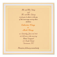 Bride and groom parents'  invitation, wedding personalized invites