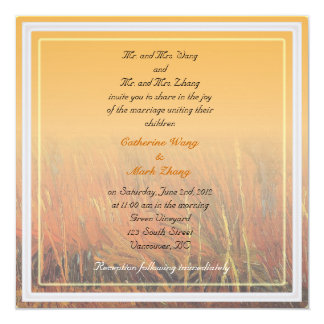 Bride and groom parents'  invitation, wedding personalized announcement
