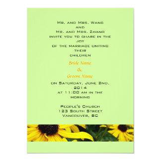 Bride and groom parents'  invitation, wedding 5.5x7.5 paper invitation card