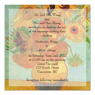 Bride and groom parents'  invitation, wedding card