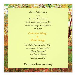 Bride and groom parents'  invitation, wedding card