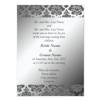 Bride and groom parents' wedding invitation